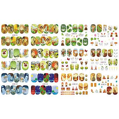12 아트 스티커 네일 물 이동 스티커 메이크업 화장품 아트 디자인 네일