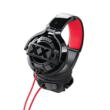 Beevo HA-MR55X 귀 이상 머리띠 유선 헤드폰 동적 플라스틱 프로 오디오 이어폰 소음 차단 마이크 포함 볼륨 컨트롤 헤드폰