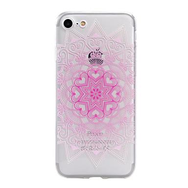 Mert iPhone 7 tok / iPhone 7 Plus tok / iPhone 6 tok Áttetsző / Dombornyomott / Minta Case Hátlap Case Virág Puha TPU AppleiPhone 7 Plus