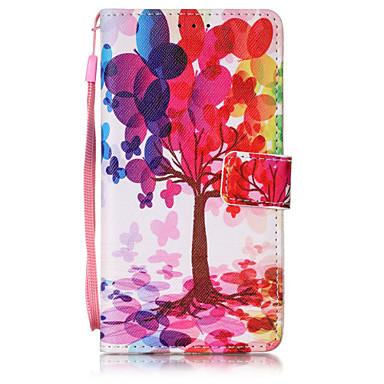 케이스 제품 화웨이 P9 라이트 Huawei P9 Lite 화웨이 케이스 지갑 카드 홀더 플립 패턴 풀 바디 나무 하드 PU 가죽 용