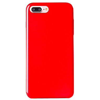 Mert Ultra-vékeny Case Hátlap Case Egyszínű Puha Műbőr Apple iPhone 7 Plus / iPhone 7 / iPhone 6s Plus/6 Plus / iPhone 6s/6