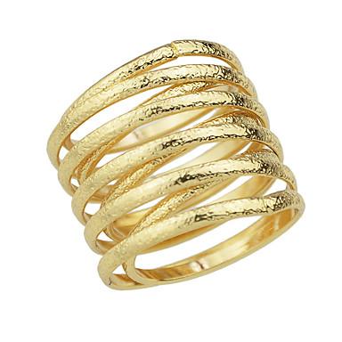Gyűrűk Divat Parti / Napi Ékszerek Ötvözet Női Midi gyűrűk 1db,9 Aranyozott