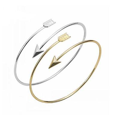 Femme Bracelets Rigides / Manchettes Bracelets - Cœur, Amour, Ancre Basique, Mode Bracelet Argent / Doré Pour Soirée / Quotidien / Décontracté
