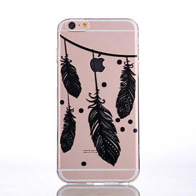 케이스 제품 Apple iPhone 6 iPhone 7 Plus iPhone 7 투명 패턴 엠보싱 텍스쳐 뒷면 커버 깃털 소프트 TPU 용 iPhone 7 Plus iPhone 7 iPhone 6s Plus iPhone 6s iPhone 6