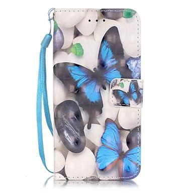 Mert iPhone 7 tok / iPhone 7 Plus tok / iPhone 6 tok Kártyatartó / Minta Case Teljes védelem Case Pillangó Kemény Műbőr AppleiPhone 7