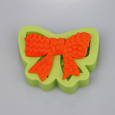 szilikon torta termékek bowknot alakja a gyomirtás tortát díszítő eszközök konyhai kiegészítők színes random