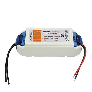 직류 12V의 4A의 48w에 AC 90-240v 0.62a 전원 LED 드라이버 - 화이트 오렌지