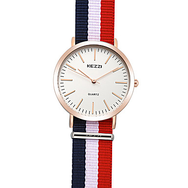 KEZZI 여성용 패션 시계 손목 시계 석영 / 섬유 밴드 멋진 캐쥬얼 멀티컬러