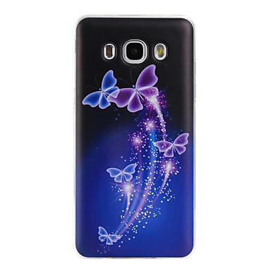 Kılıf Na Samsung Galaxy Samsung Galaxy Etui Wzór Czarne etui Motyl Miękkie TPU na J7 (2016) J5 (2016) J3 (2016)