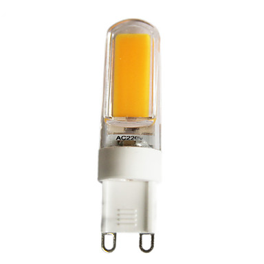 G9 LED Bi-pin 조명 T 1 COB 220 lm 따뜻한 화이트 차가운 화이트 밝기조절가능 AC 220-240 AC 110-130 V 1개