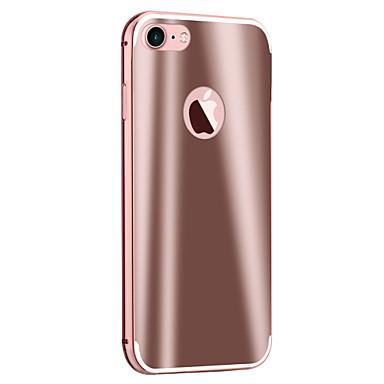 Case Kompatibilitás Apple iPhone 5 tok iPhone 6 iPhone 7 Galvanizálás Tükör Fekete tok Páncél Kemény Fém mert iPhone 7 Plus iPhone 7
