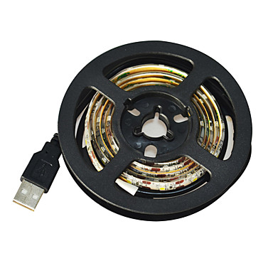 1m Bandes Lumineuses LED Flexibles 60 LED 3528 SMD Blanc Découpable / Imperméable / Pour Véhicules 5 V / IP65 / Auto-Adhésives
