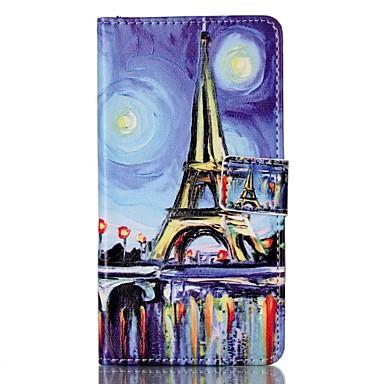Için Cüzdan Kart Tutucu Satandlı Flip Temalı Manyetik Pouzdro Tam Kaplama Pouzdro Eiffel Kulesi Sert PU Deri için Sony Other