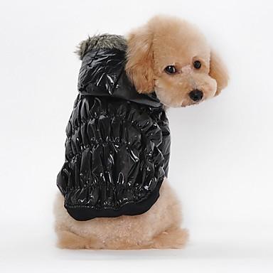 고양이 강아지 코트 후드 강아지 의류 캐쥬얼/데일리 따뜻함 유지 솔리드 블랙 커피 레드 블루 코스츔 애완 동물