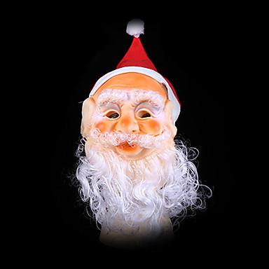 산타의 누락 모자와 산타 클로스 마스크는 크리스마스 장식 보철