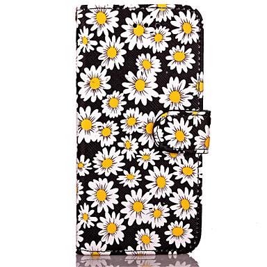 Case Kompatibilitás Apple iPhone 8 iPhone 8 Plus iPhone 7 iPhone 7 Plus iPhone 6 Pénztárca Teljes védelem Virág Kemény Műbőr Bőr mert