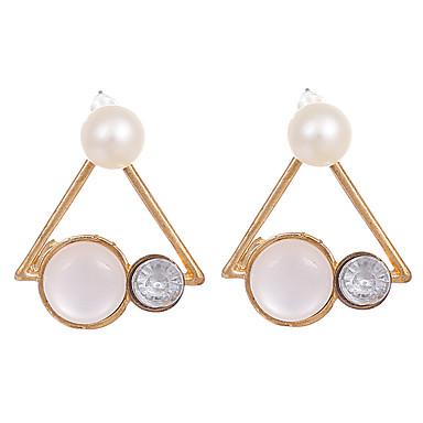 Damskie Vintage Modny Kryształ Pozłacane Opal Stop Trojůhelníkové Biżuteria Gold Ślub Impreza Biżuteria kostiumowa