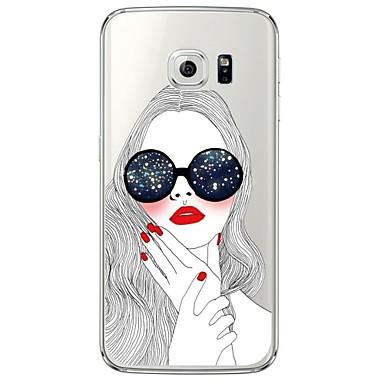 Mert Samsung Galaxy S7 Edge Átlátszó / Minta Case Hátlap Case Szexi lány Puha TPU SamsungS7 edge / S7 / S6 edge plus / S6 edge / S6 / S5