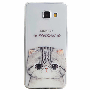 Mert Samsung Galaxy tok Minta Case Hátlap Case Cica Puha TPU Samsung A5(2016) / A3(2016)