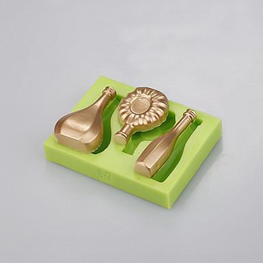 élelmiszer-minőségű szilikon palack formája torta dekoráció fondant penész sütés ramdon szín
