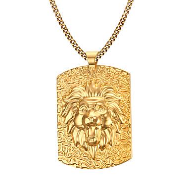 Férfi Nyaklánc medálok  -  Rozsdamentes acél, Arannyal bevont Divat Aranyozott Nyakláncok Kompatibilitás Karácsonyi ajándékok, Napi, Hétköznapi