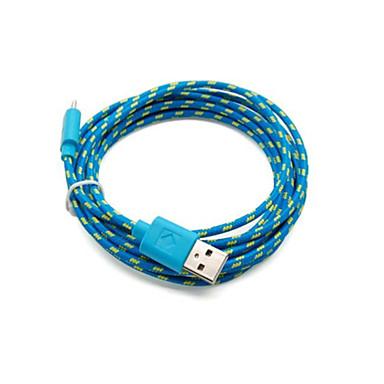 2 pakcs 2m seis pés de carregamento micro USB e cabo de sincronização de dados tecido cabo trançado de tecido para Samsung HTC