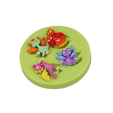 szép ősi dinoszaurusz szilikon sugarcraft penész fondant torta díszítő eszközöket csokoládé cupcake színes random