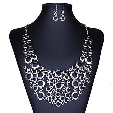 Ékszer készlet Nyaklánc / fülbevaló Sexy Divat Európai Ezüst Nyakláncok Naušnice Mert Esküvő Parti Napi Hétköznapi 1set Esküvői ajándékok