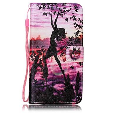 A huawei p9 lite y5ii angyal festett kártya stent pu bőr mobiltelefon holster telefon tok a huawei p9 lite y5ii y6ii