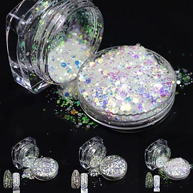 1pcs Akril por / Nail Glitter / Glitter por Elegáns és luxus / Ragyogó és csillogó Körömművészeti tervezés / Szerszámok és tartozékok
