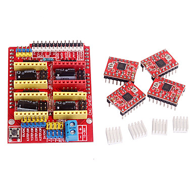 램프 1.4 reprap 3 차원 프린터 CNC 방패 V3 a4988 스테퍼 드라이버