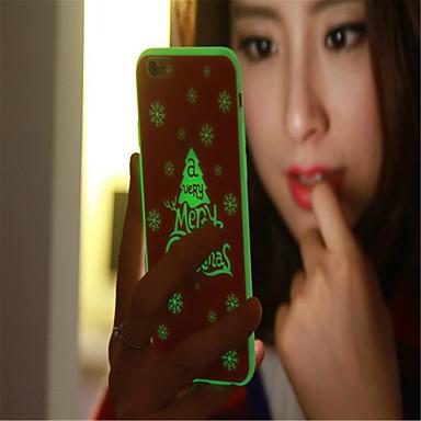 Case Kompatibilitás Apple iPhone 6 iPhone 6 Plus Foszforeszkáló Hátlap Karácsony Puha TPU mert iPhone 6s Plus iPhone 6 Plus iPhone 6s
