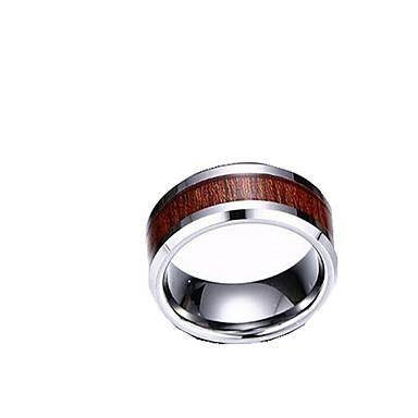 Férfi Karikagyűrűk Ékszerek minimalista stílusú Divat Wolfram acél Ékszerek Kompatibilitás Napi Hétköznapi