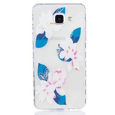 Case Kompatibilitás Samsung Galaxy A5(2016) A3(2016) Átlátszó Minta Hátlap Virág Puha TPU mert A5(2016) A3(2016)