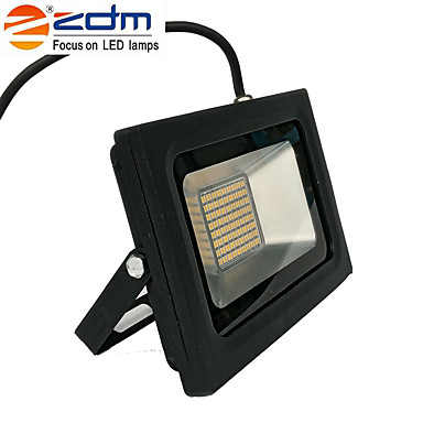 zdm 1pc 60w 288 x 3020 smd led 1400lm ماء ip65 مصباح الإسقاط رقيقة جدا (ac170-265v) السوبر رقيقة سوداء يموت يلقي الالومنيوم قذيفة