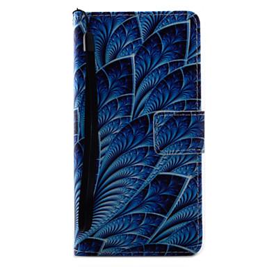 A sony xperia x xa burkolatokhoz kék virágok mintás festés pu bőr anyag kártya stent xp xz