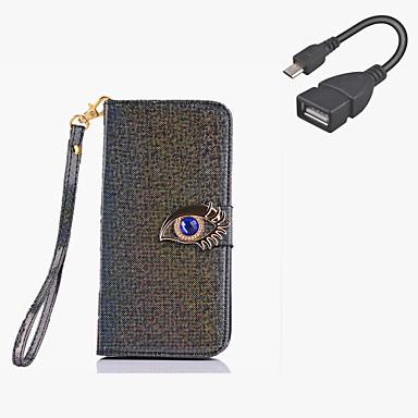 용 지갑 / 카드 홀더 / 스탠드 / 플립 케이스 풀 바디 케이스 단색 하드 인조 가죽 Samsung S6 edge plus / S6 edge / S6 / S5