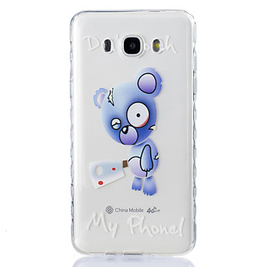 케이스 제품 Samsung Galaxy J7 (2016) J5 (2016) 투명 엠보싱 텍스쳐 패턴 뒷면 커버 동물 소프트 TPU 용 J7 (2016) J5 (2016) J5 J3 J3 Pro J3 (2016) J1 (2016) Grand