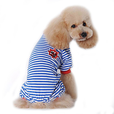 cheap Dog Clothing & Accessories-Dog Jumpsuit Pajamas Dog Clothes Sailor Black Red Blue Cotton Costume For Spring &  Fall Winter Men's Women's Casual / Daily