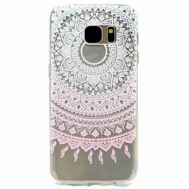 Case Kompatibilitás Samsung Galaxy S8 S7 edge Minta Hátlap Virág Puha TPU mert S8 S7 edge S7 S5 Mini S5