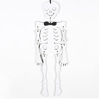 1db halloween csontváz kísértetjárta házban dísztárgyak