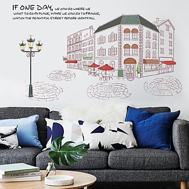 Natura morta architettura tempo libero adesivi murali for Adesivi decorativi da parete