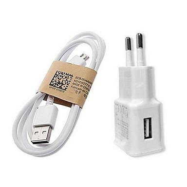 Töltő otthoni használatra Hordozható töltő Telefon USB töltő EU konnektor Gyors töltés 1 USB port 1A AC 100V-240V Mobilkészüléknek