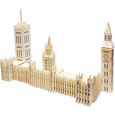 Jigsaw Puzzle Fából készült építőjátékok Építőkockák DIY játékok híres épületek / kínai építészet 1 Fa Kristály