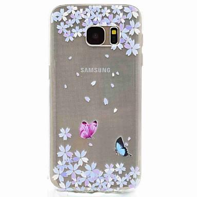 케이스 제품 Samsung Galaxy S8 S7 edge 패턴 뒷면 커버 버터플라이 소프트 TPU 용 S8 S7 edge S7 S5 Mini S5
