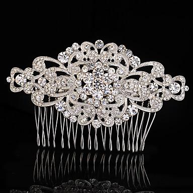 Κρύσταλλο Ύφασμα Κράμα Τιάρες Κομμάτια μαλλιών 1 Γάμου Ειδική Περίσταση Πάρτι / Βράδυ Headpiece