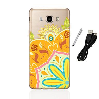 Case Kompatibilitás Samsung Galaxy J5 (2016) J3 (2016) Áttetsző Minta Hátlap Mandala Puha TPU mert J5 (2016) J5 J3 (2016) J3 J1 (2016) J1
