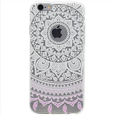 용 아이폰7케이스 / 아이폰6케이스 / 아이폰5케이스 투명 / 엠보싱 텍스쳐 / 패턴 케이스 뒷면 커버 케이스 꽃장식 소프트 TPU Apple아이폰 7 플러스 / 아이폰 (7) / iPhone 6s Plus/6 Plus / iPhone 6s/6