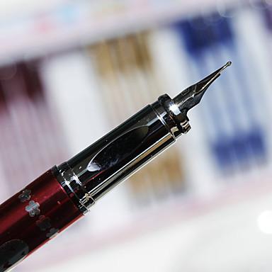 펜 펜 분수 펜 펜, 메탈 블랙 잉크 색상 For 학용품 사무용품 팩