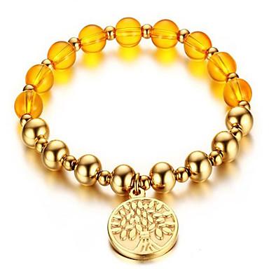 sárga kristály gyöngy arany karkötő 8mm címkék klasszikus női stílusban